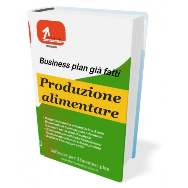 Business plan produzione alimentare di Start-up