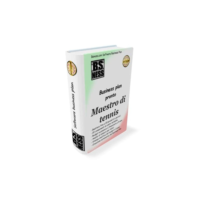 Business plan maestro di tennis