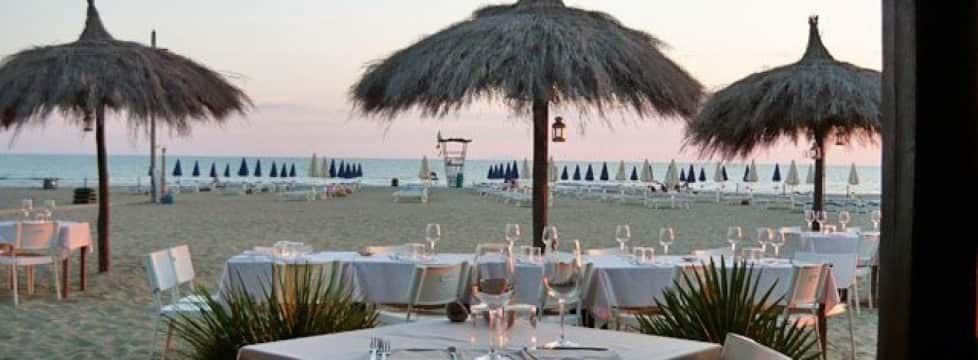 ristorante in affitto sulla spiaggia